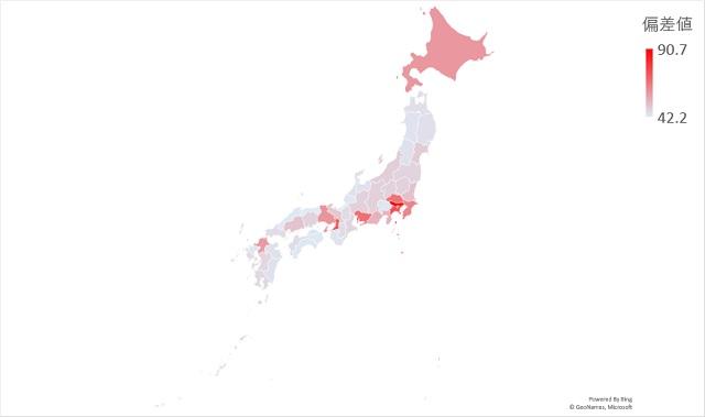 人口のマップグラフ