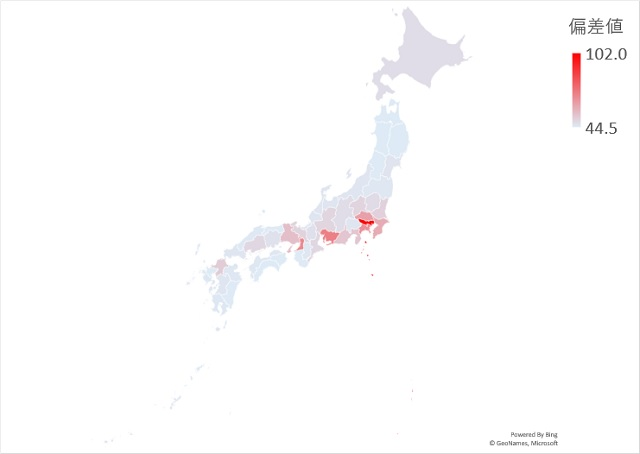 在留外国人のマップグラフ