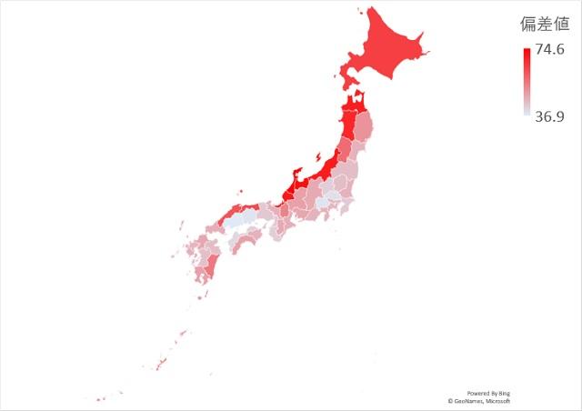 年間降水日数のマップグラフ