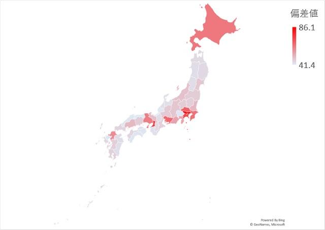 65歳以上の人口のマップグラフ