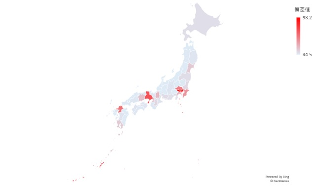 待機児童のマップグラフ